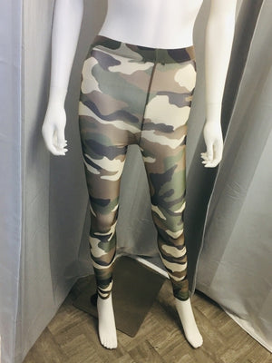 Camouflage Sheer Leggings