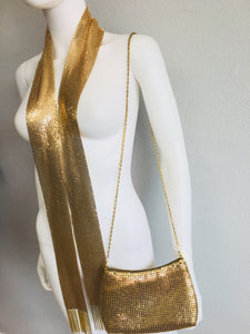 two piece set gold scarf and purse - Vanity's Vault