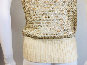 St. JOHN Crochet Sleeveless Sweater - Vanity's Vault
