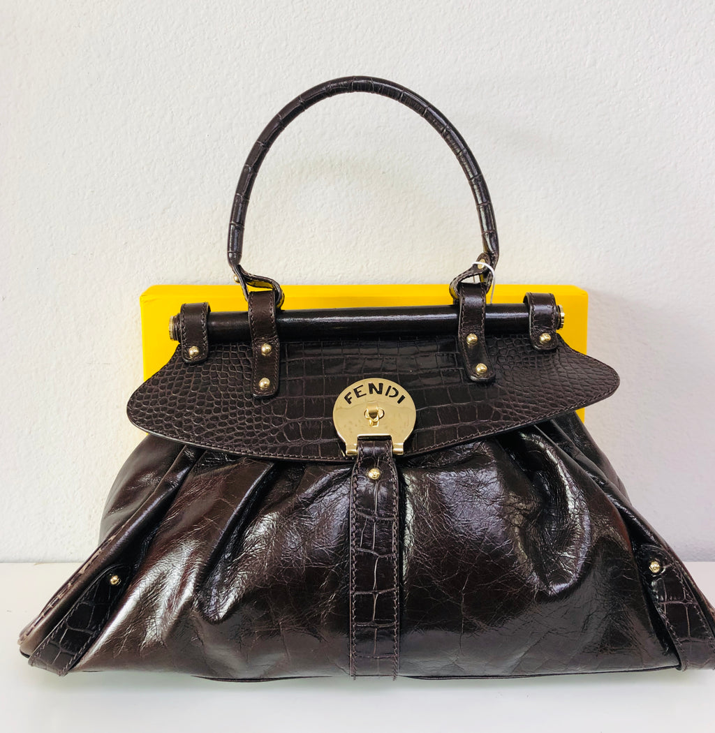 Fendi Tabacco Leather Shoulder Bag