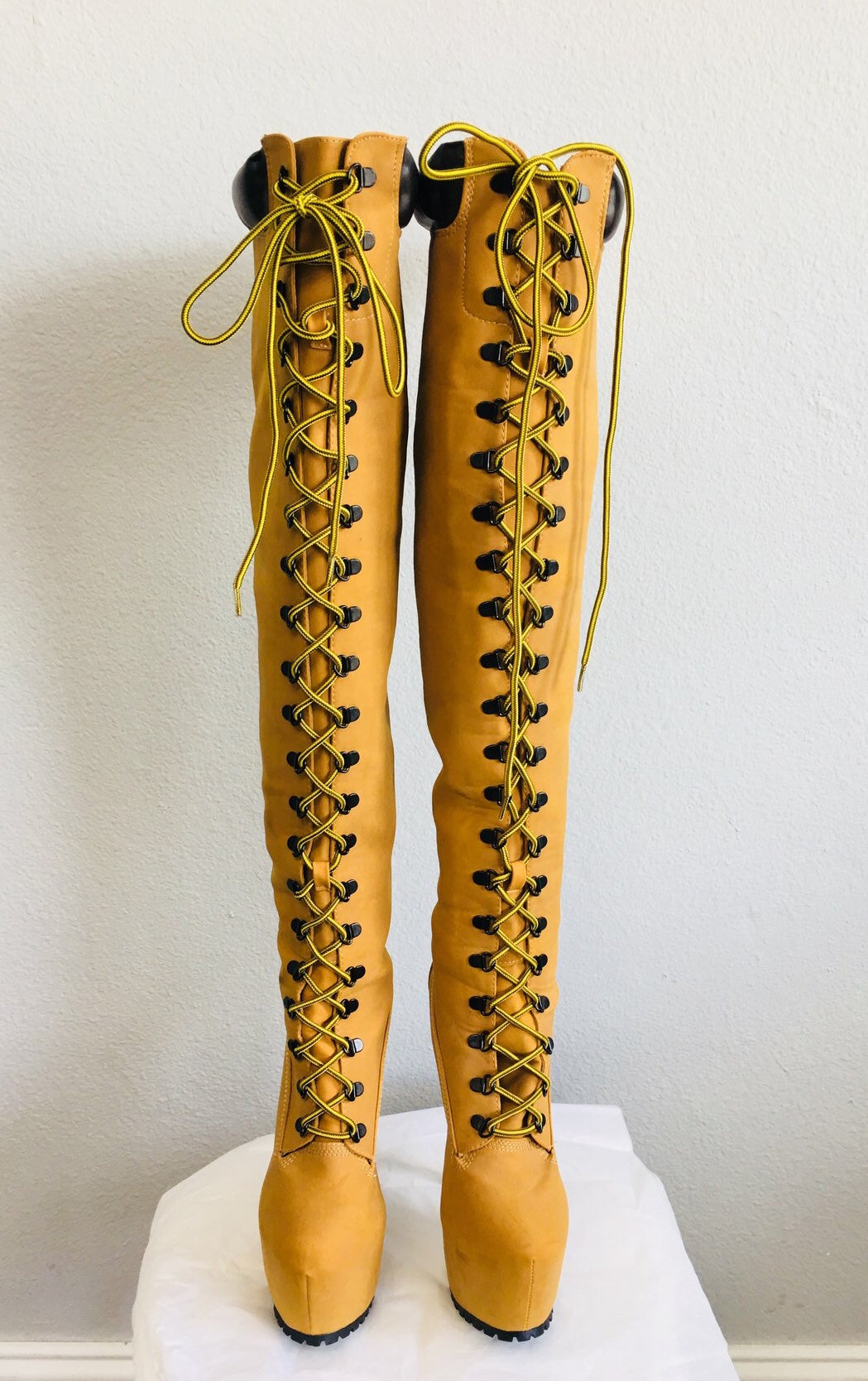 dirt cheap elegant and graceful detailed pictures Thigh high timberland style boots