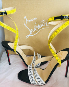 Christian Louboutin Measuring Tape Ankle Strap Sandals - Vanity's Vault