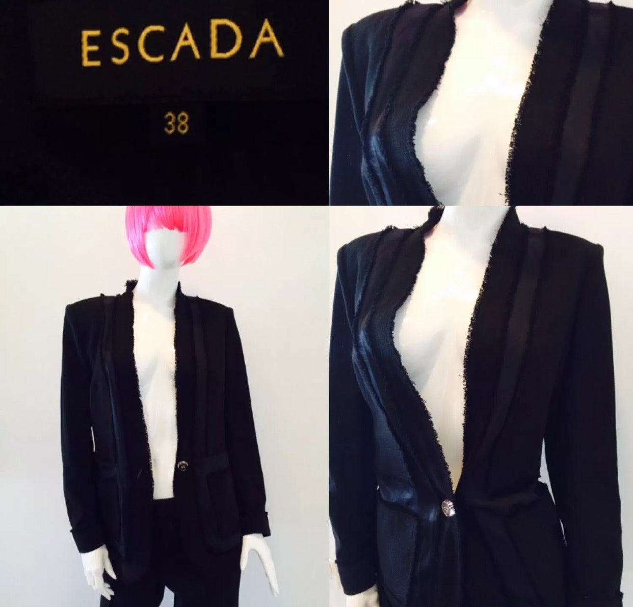 Escada Wool Suit with Cropped Pants - Vanity's Vault