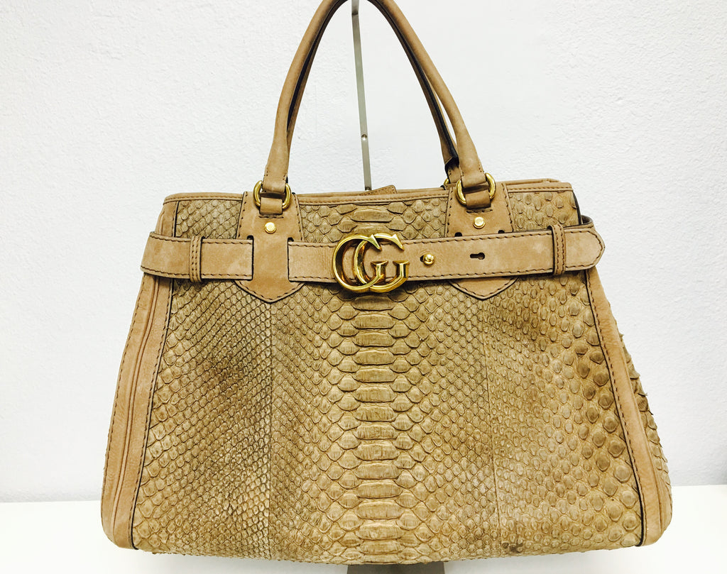 Gucci Nude Python 🐍 Running Tote Bag - Vanity's Vault