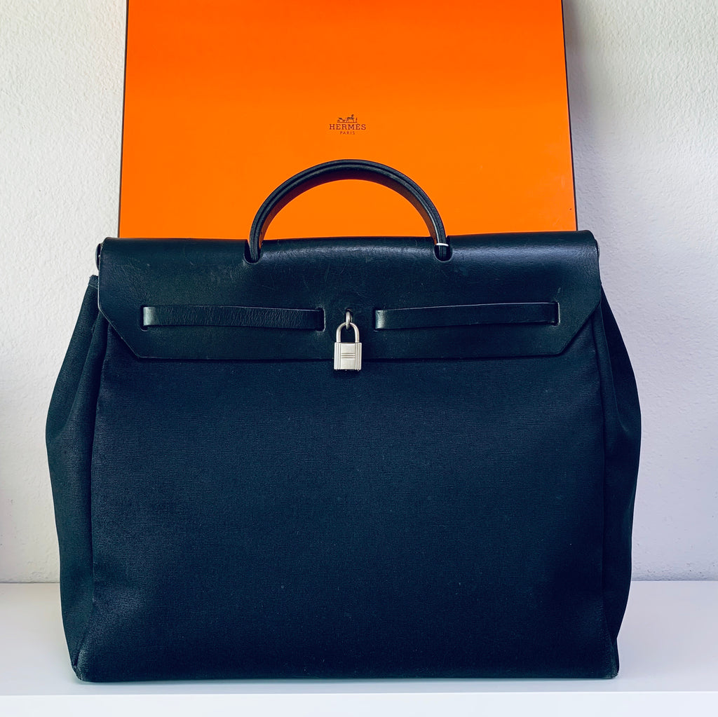 HERMÈS Herbag Cloth Handbag