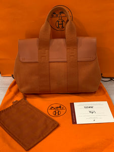 HERMÈS Valparaiso PM Orange Leather Bag - Vanity's Vault