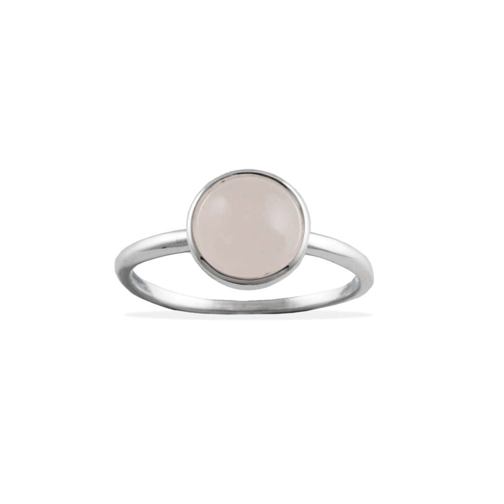 Von Treskow - Large Round Rose Quartz Ring