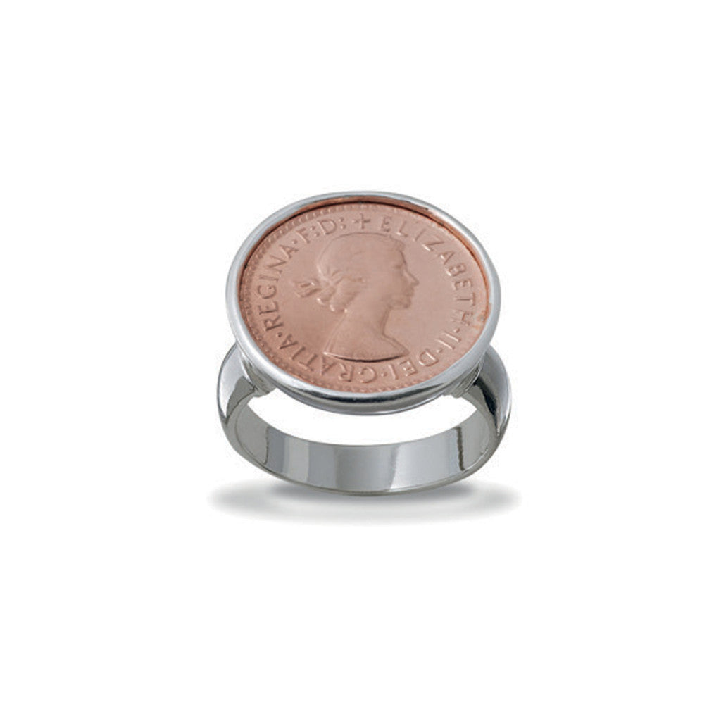 Von Treskow - Three Pence Coin Ring - Rose