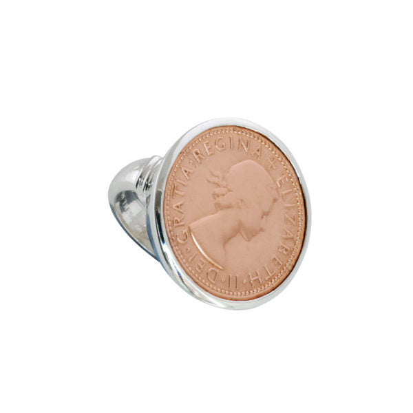 Von Treskow Shilling Coin Ring - Rose Gold
