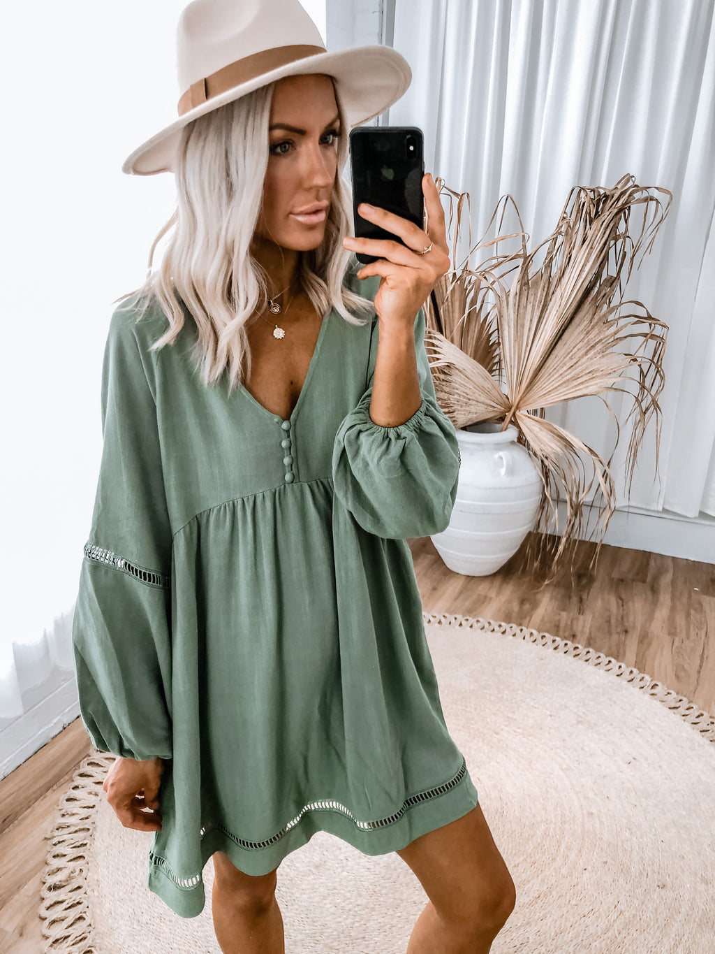 Pearl Dress - Khaki - PRE ORDER MAY