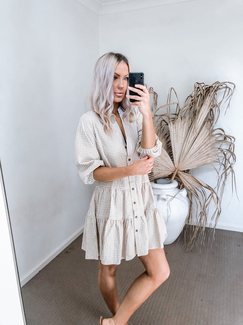 Lulu Dress - Beige