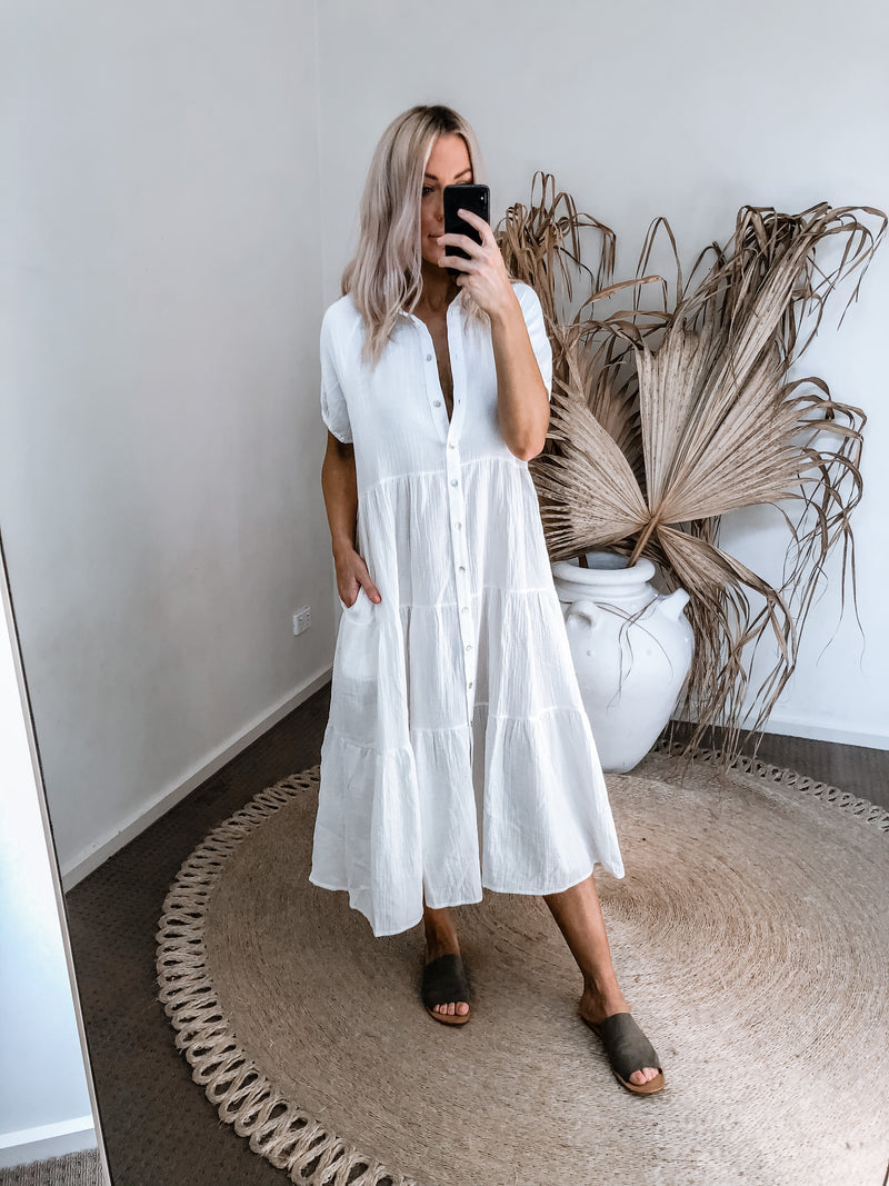 Ange Dress - White