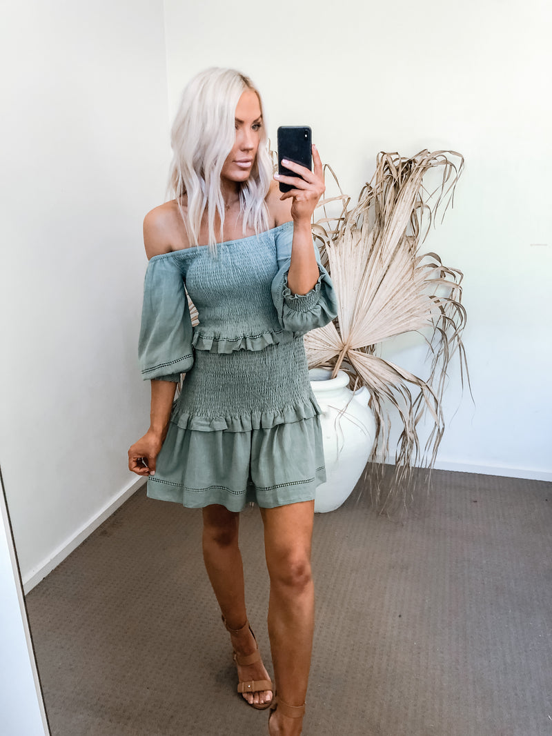 Siara Dress - Khaki