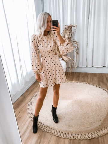 Holly Dress - Beige Leopard