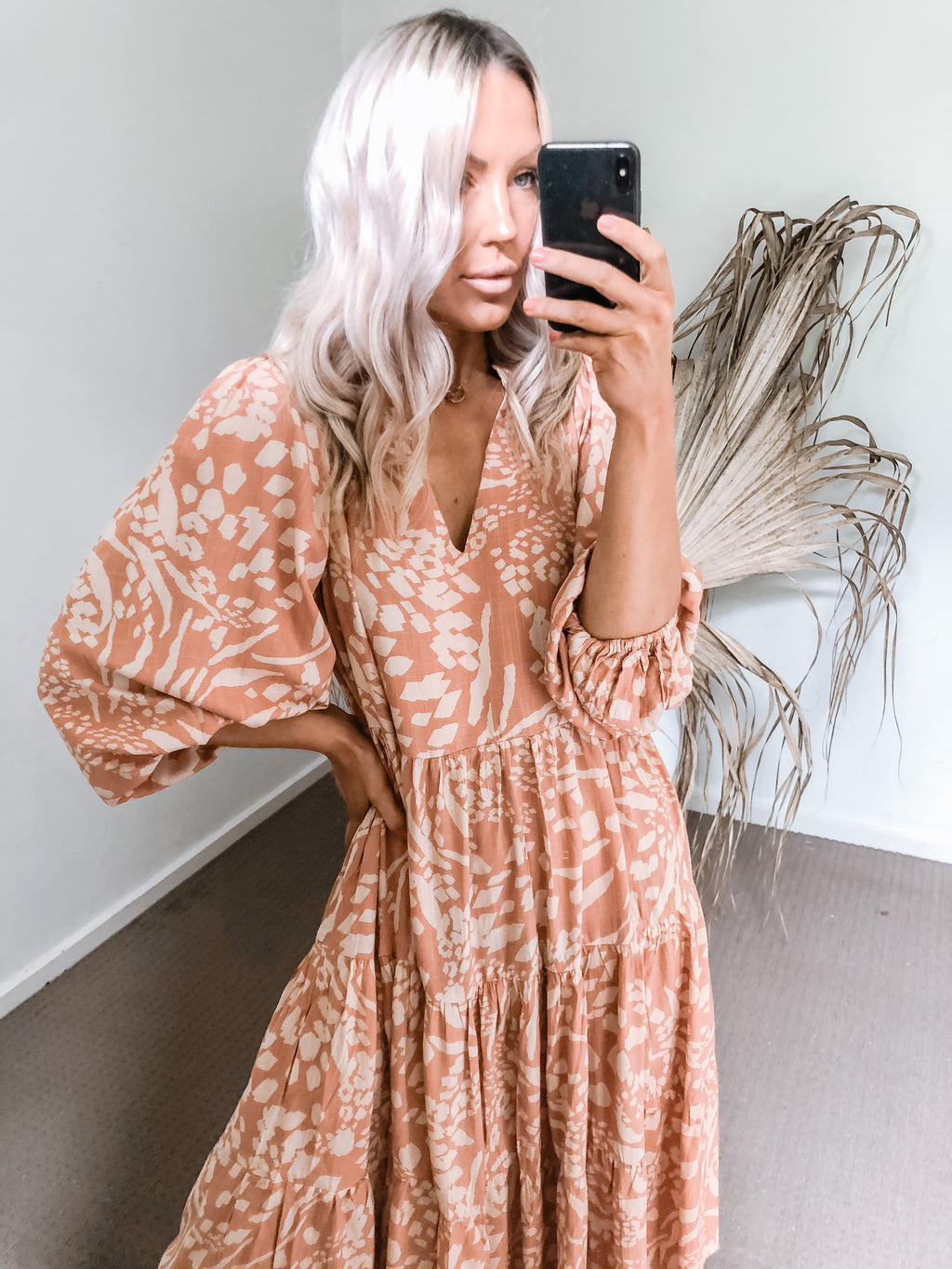 Chlo Dress - Rust