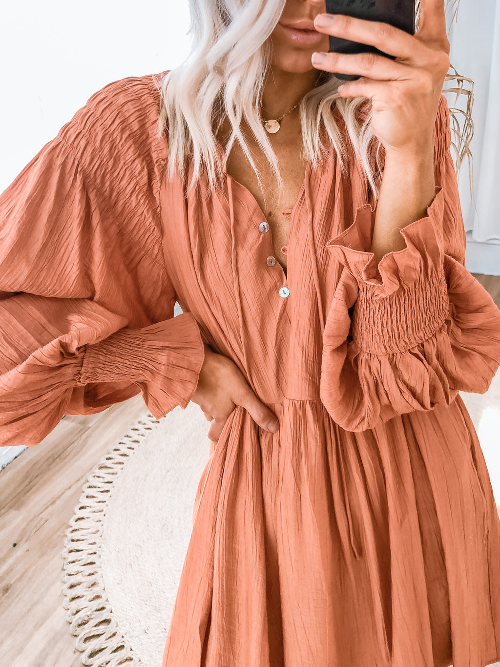Lindsey Dress - Rust