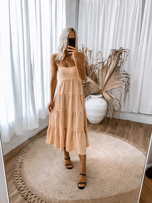 Sheil Dress - Mustard