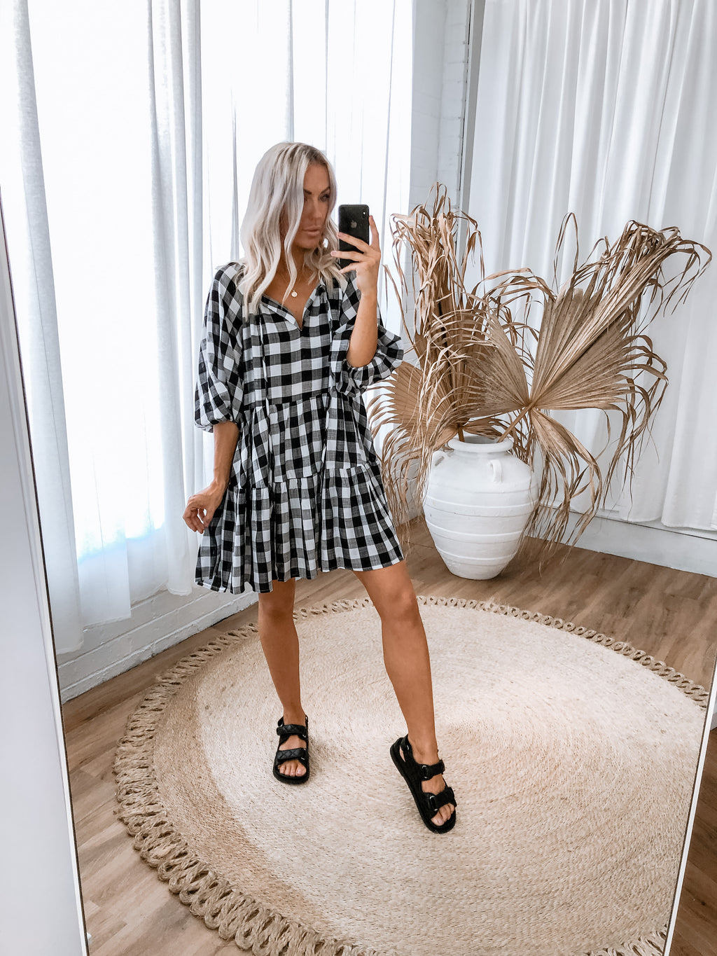 Cyanna Dress - Gingham