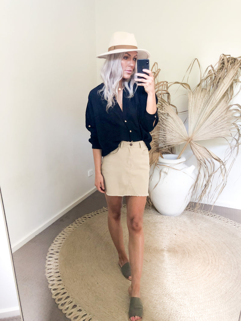 Perry Skirt - Beige