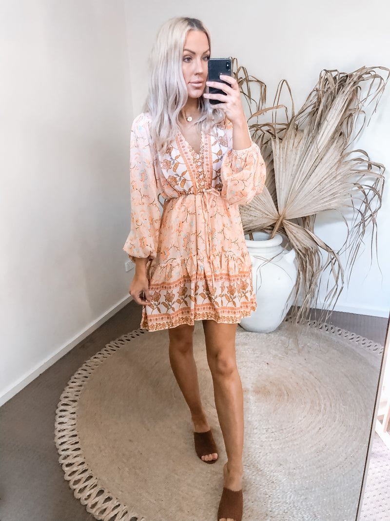 Ashy Dress - Peach