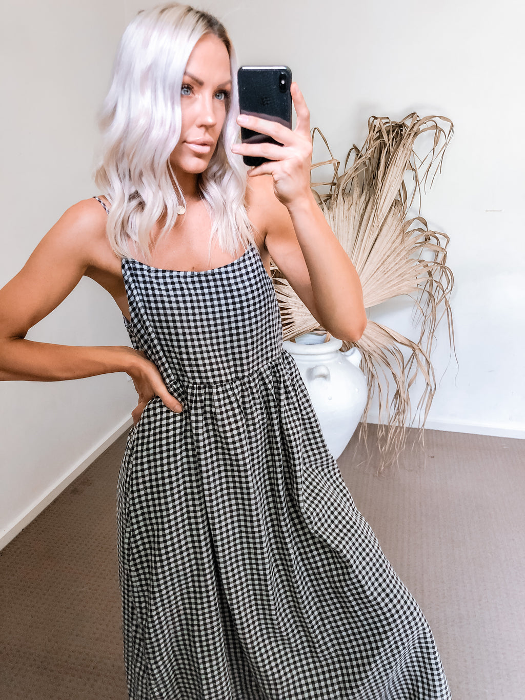 Hydie Dress - Gingham