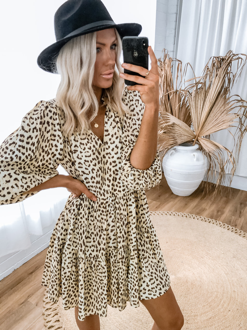 Coco Dress - Lemon Leopard