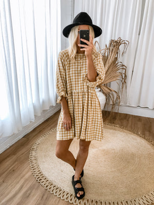 Kanoa Dress - Mustard