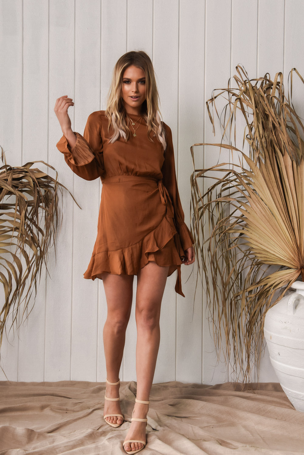 Chanelle Dress - Tan