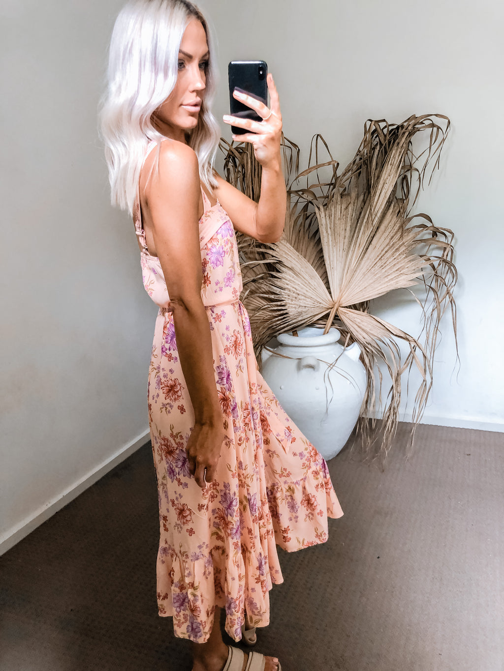 Laine Dress - Peach