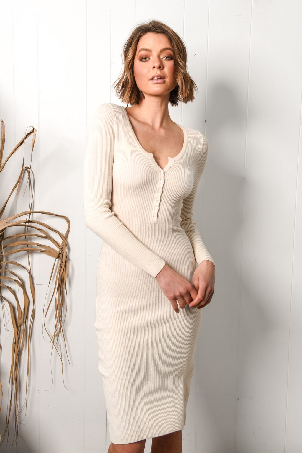 Brodie Dress - Beige
