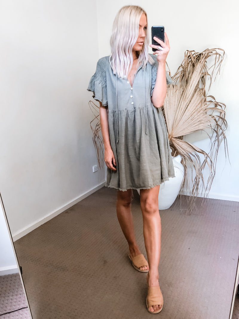Remmi Dress - Khaki