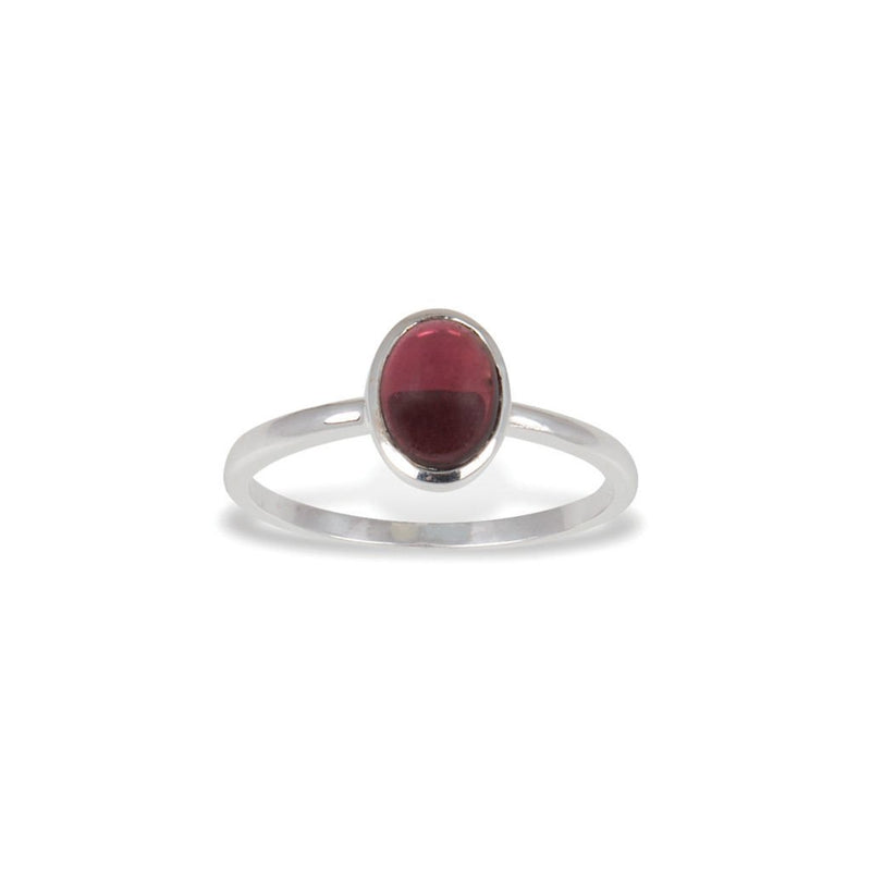 Von Treskow - Large Oval Garnet Ring