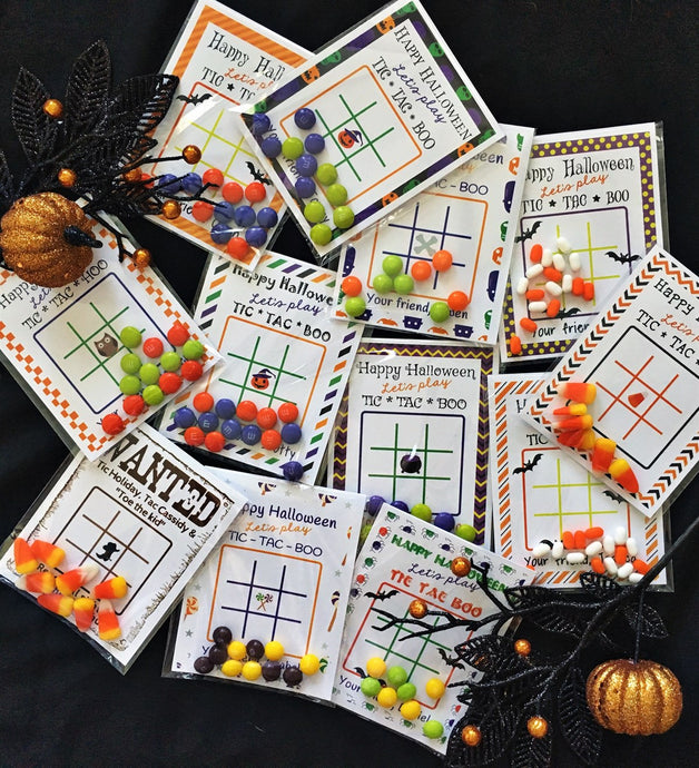 Halloween Tic-Tac-Toe Cards | Set of 24