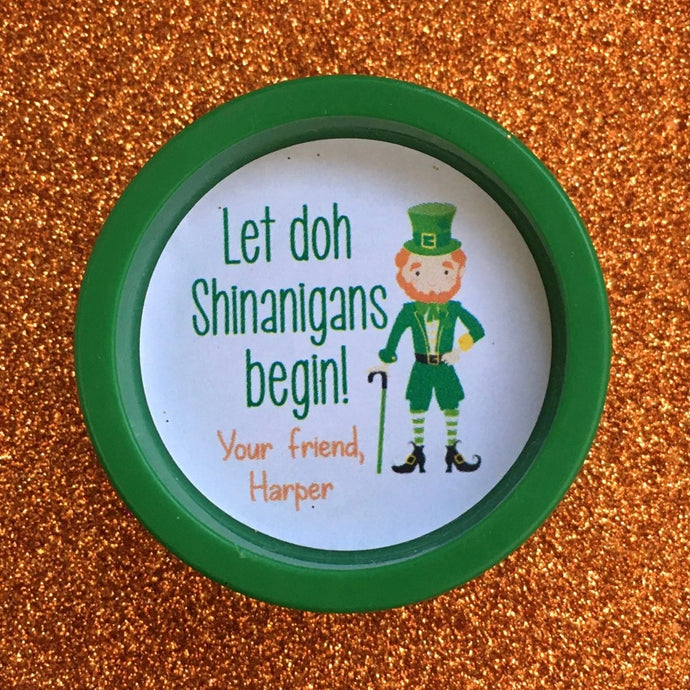 St. Patrick's Day Playdoh Stickers | Set of 24