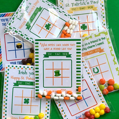 St. Patrick's Day Tic-Tac-Toe Cards | Set of 24