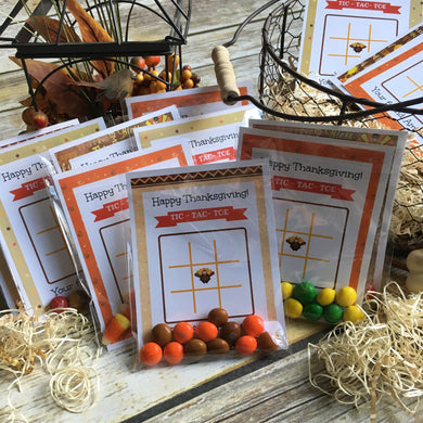 Thanksgiving Tic-Tac-Toe | Set of 24
