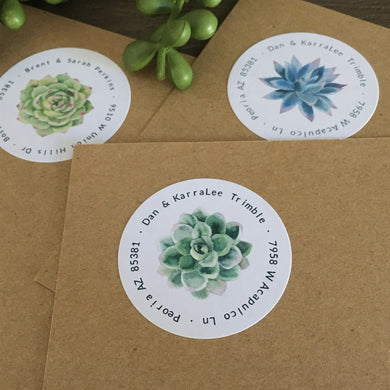 Succulent Address Labels | Set of 48
