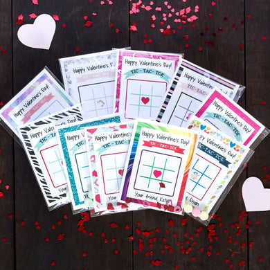 Valentine's Day Tic-Tac-Toe | Set of 24