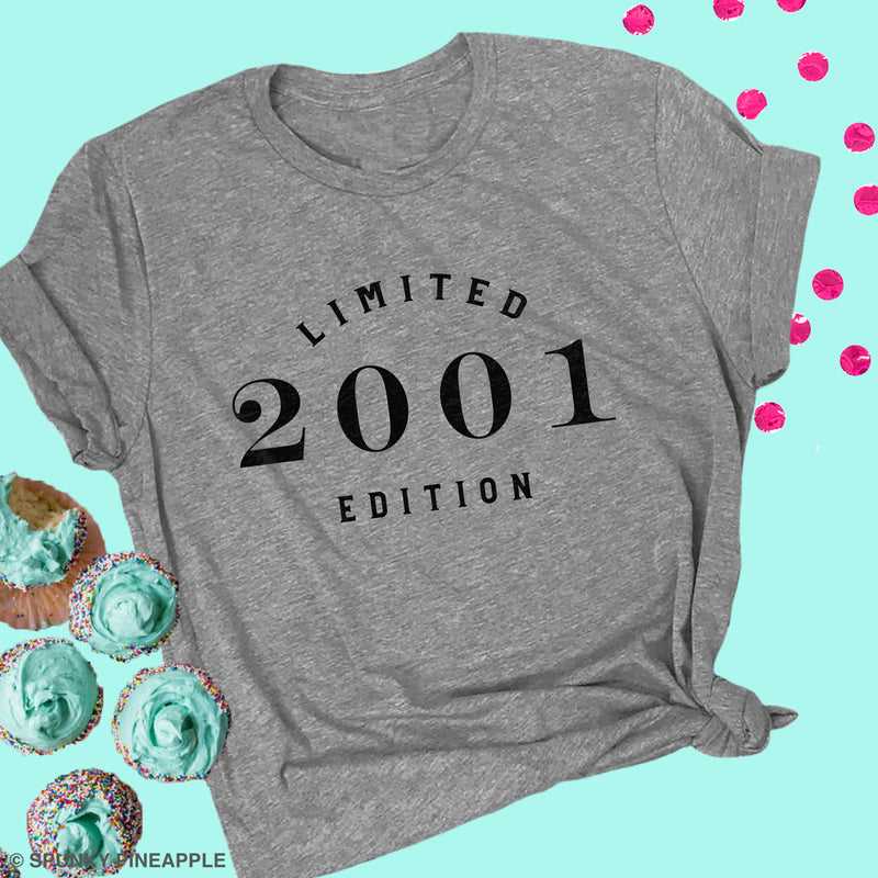 Limited Edition 2001 Cute Birthday Top for Women