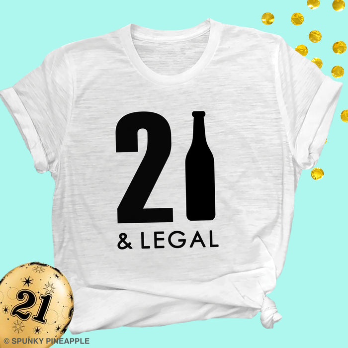 21 & Legal Birthday Top For Women