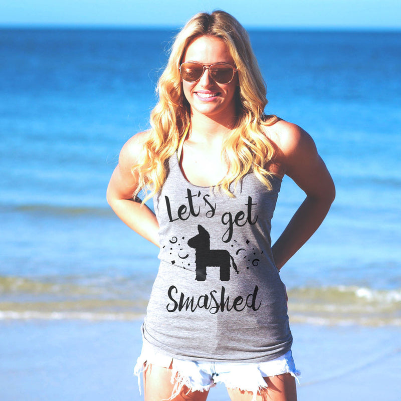 Lets Get Smashed Fiesta Bachelorette Party Tanks