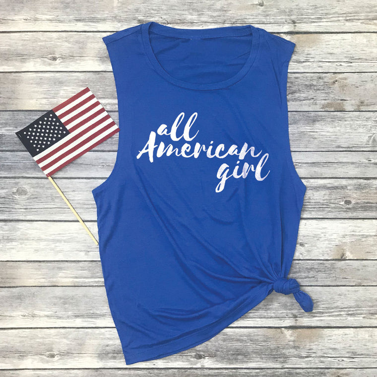 All American Girl Muscle Tee