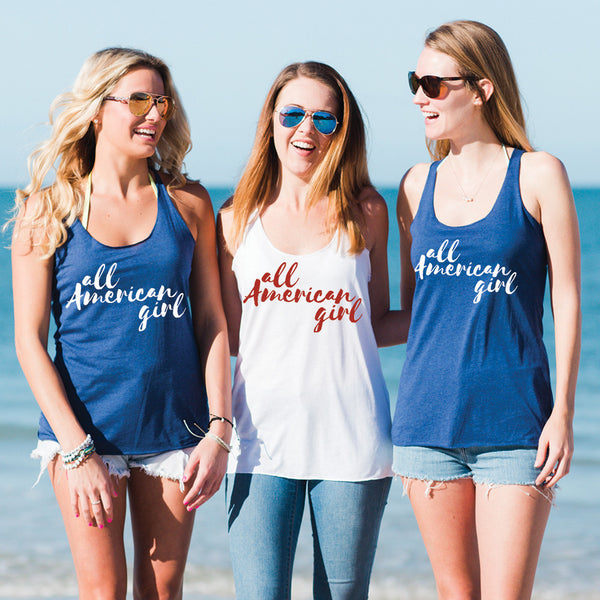 All American Girl Forth of July Tank Top