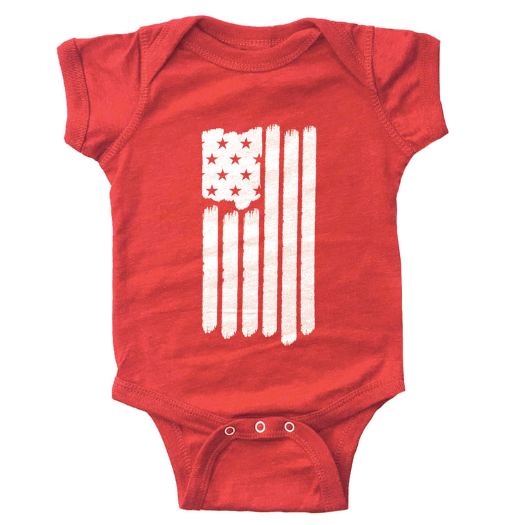 America Flag Infant Bodysuit