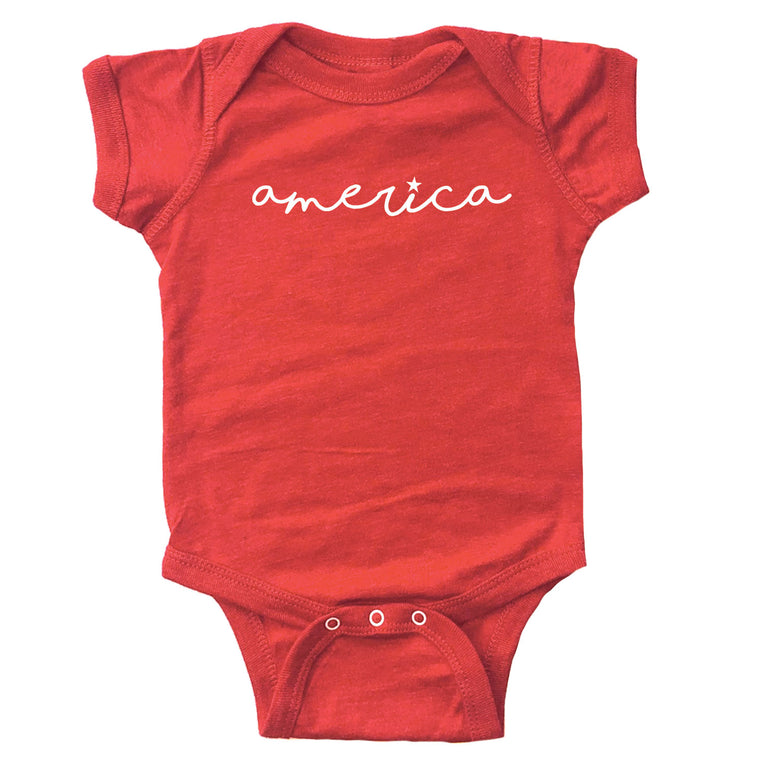 America (I with Star) Infant Bodysuit