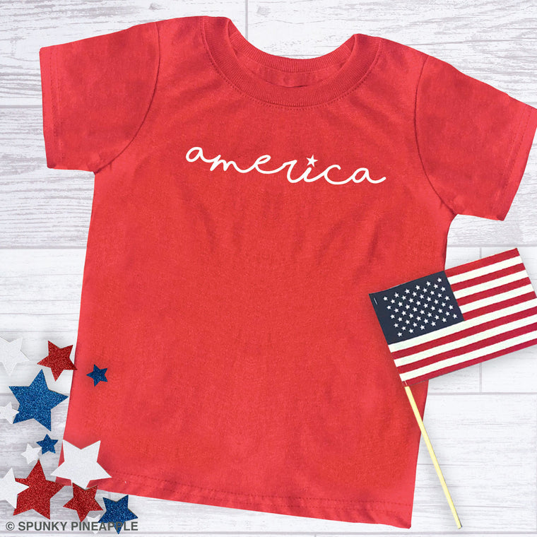 America (I with Star) Toddler Jersey Tee