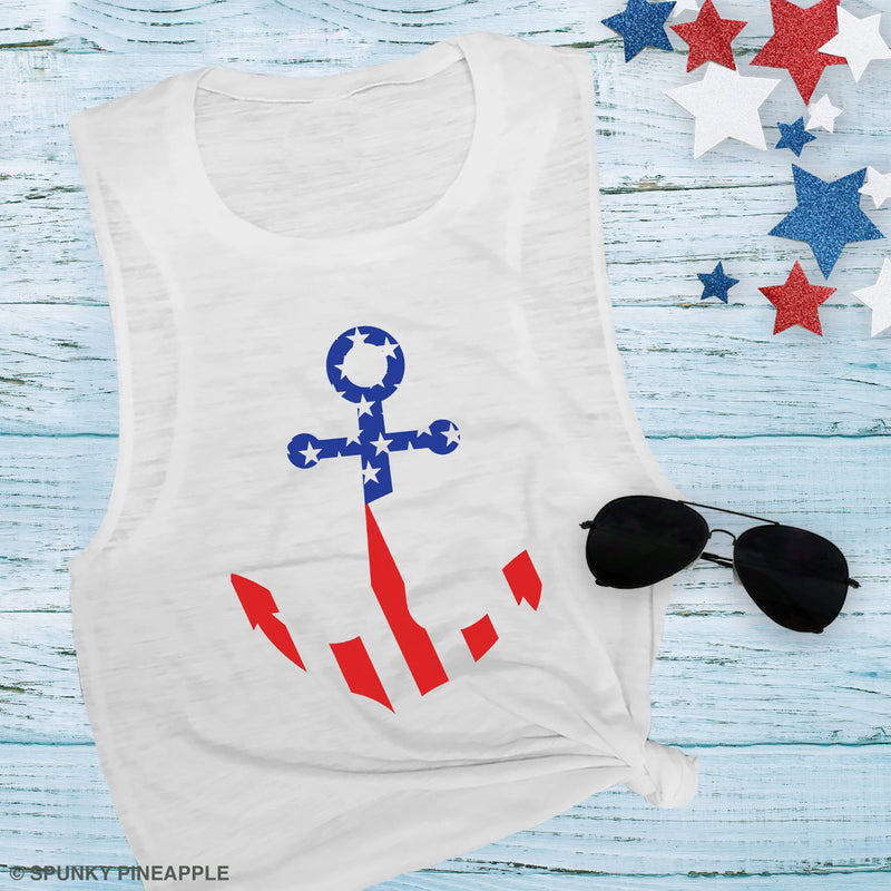 America Anchor Muscle Tee