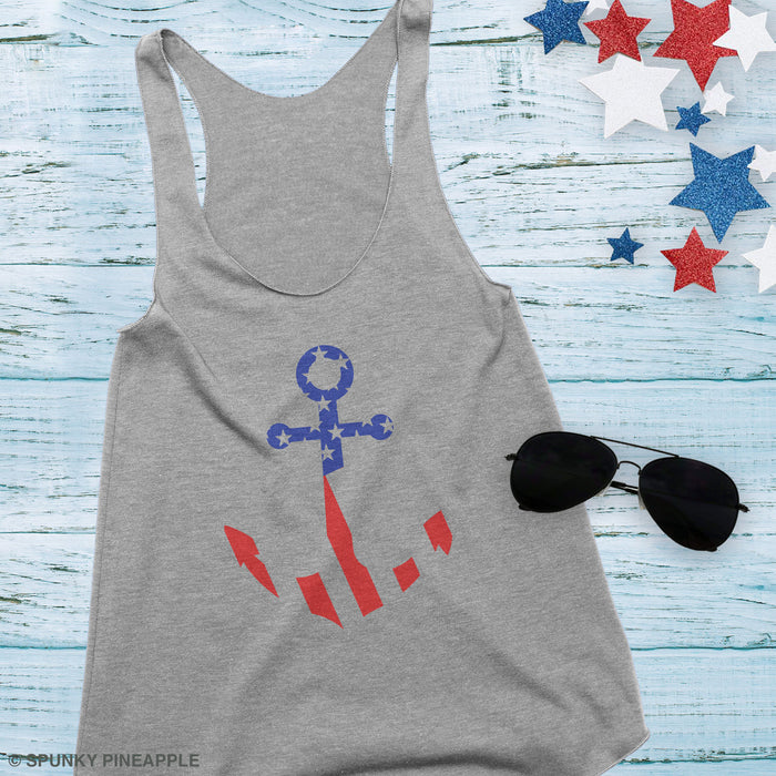 America Anchor Tank Top