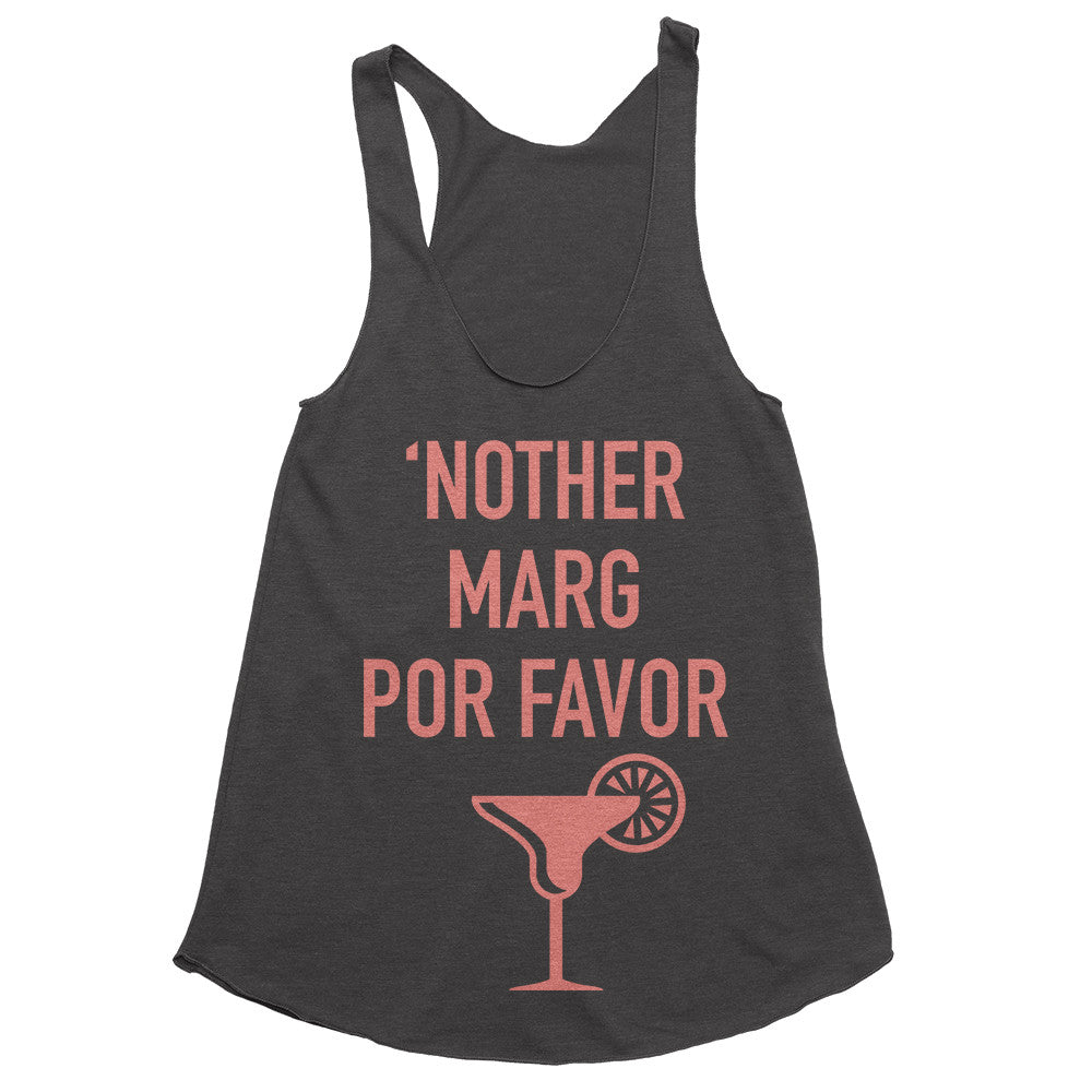 'Nother Marg Por Favor Tank Top - Charcoal Black