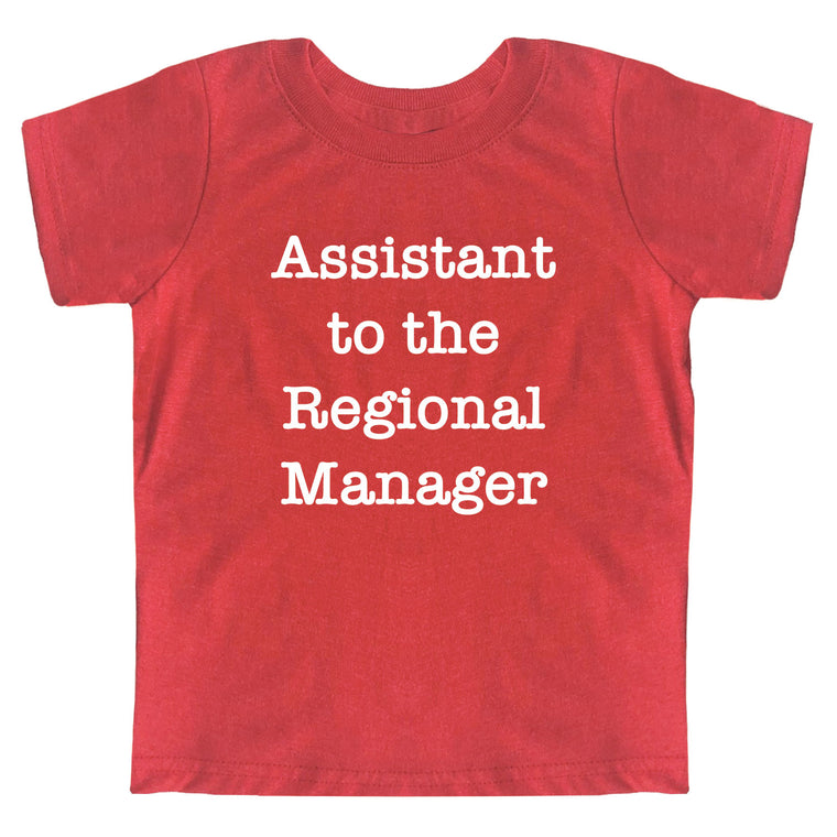 Assistant to the Regional Manager Toddler Jersey Tee